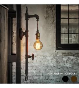 Vodovodné potrubie ako stenové svietidlo