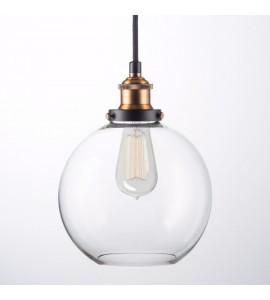 Toskánsko okrúhle sklenené závesné svietidlo