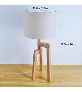 Drevené stolové svietidlo