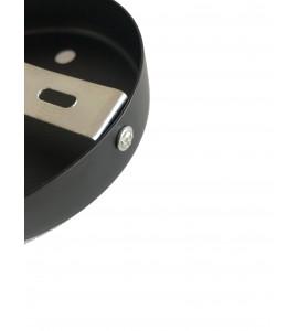 Stropná rozeta okrúhleho tvaru pre 2 svietidlá, 120 mm, čierna