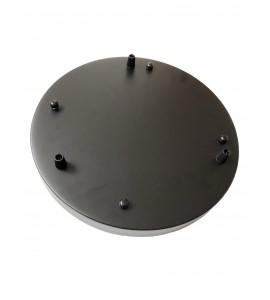 Stropná rozeta okrúhleho tvaru pre 3 svietidlá, 290 mm, čierna