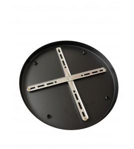 Stropná rozeta okrúhleho tvaru pre 4 svietidlá, 200 mm, čierna