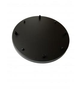 Stropná rozeta okrúhleho tvaru pre 4 svietidlá, 350 mm, čierna