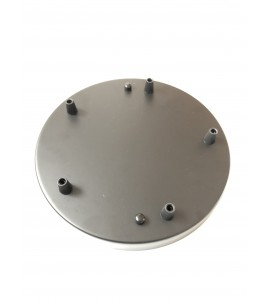 Stropná rozeta okrúhleho tvaru pre 5 svietidiel, 250 mm, čierna